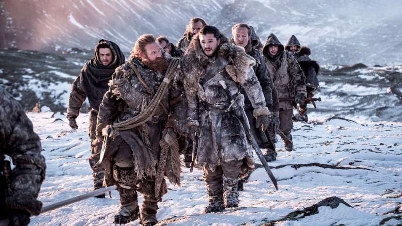 Tormund e John Snow 7ª temporada