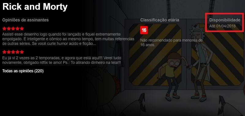 Rick and Morty serão excluidos do catálogo da Netflix