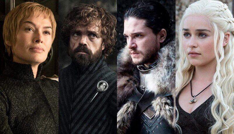 Elenco Principal de Game of Thrones perfilado
