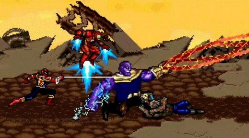 Veja a luta dos Vingadores vs Thanos em 16 bits!