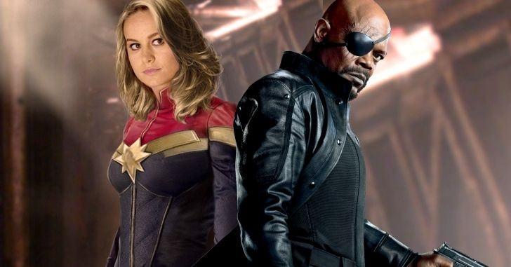 Capitã Marvel e  Nick Fury
