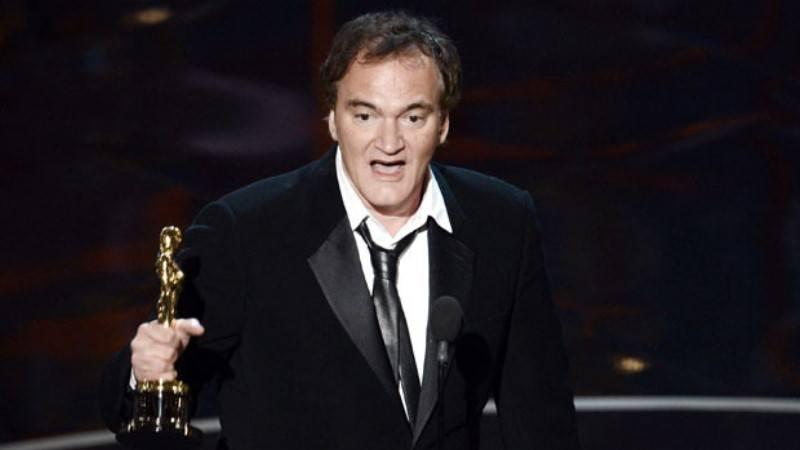 Quentin Tarantino recebendo o Oscar