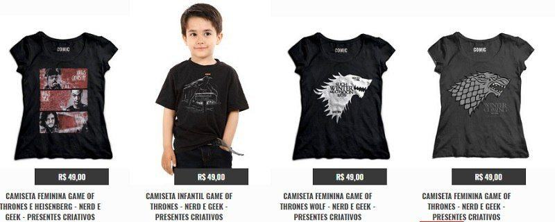 Camisetas de Game of Thones