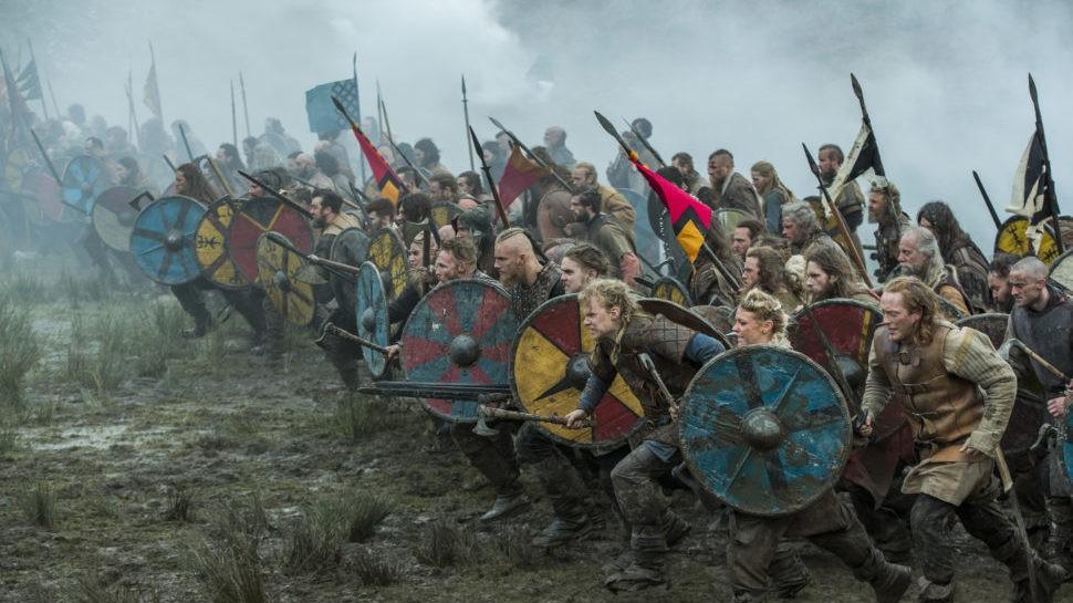 Cena de batalha da série Vikings